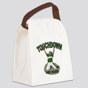 personalized Grid iron footballer Canvas Lunch Bag