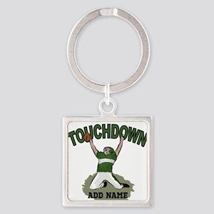 personalized Grid iron footballer Square Keychain
