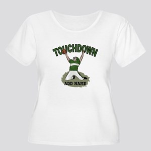 personalized Grid iron footballer Plus Size T-Shir