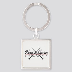 Blay and Qhuinn Forever Square Keychain