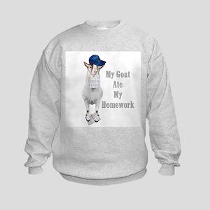 GOAT Ate Homework Kids Sweatshirt
