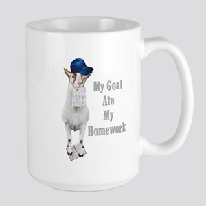 GOAT Ate Homework Large Mug
