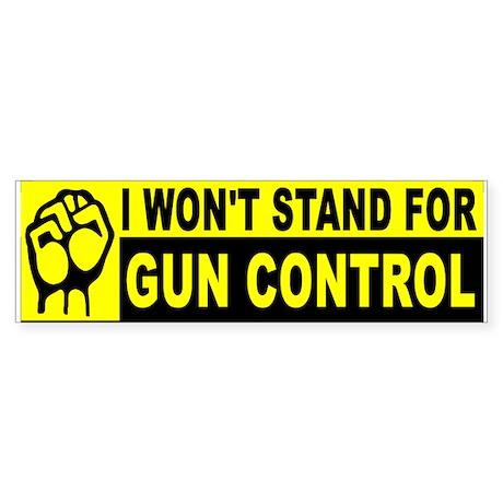 Protect America Support Gun Control Bumper Sticker ... |Gun Bumper Stickers