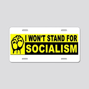 STAND BUMBER SOCIALISM_001 Aluminum License Plate