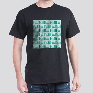 Books on Bookshelf, Teal. T-Shirt