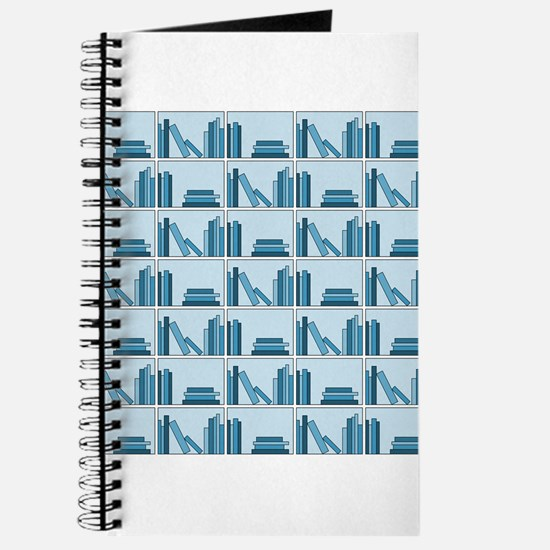 Books on Bookshelf, Blue. Journal