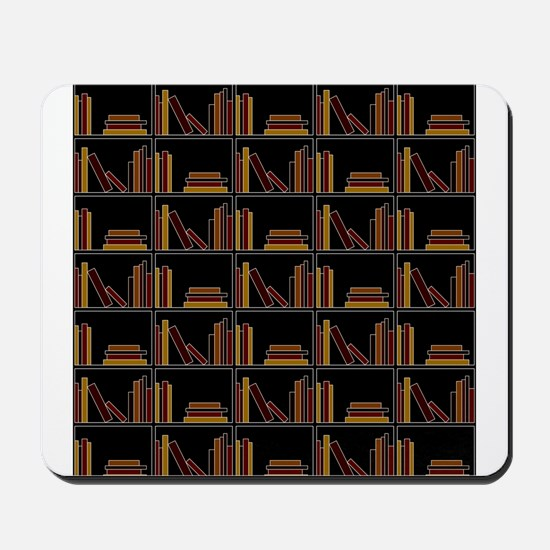 Books on Bookshelf. Mousepad
