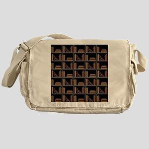 Books on Bookshelf. Messenger Bag