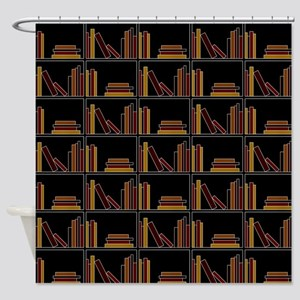 Books on Bookshelf. Shower Curtain