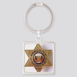 Security7StarBadge Square Keychain