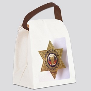 Security7StarBadge Canvas Lunch Bag