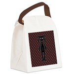 Harajuku bunny red black Canvas Lunch Bag