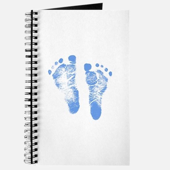 Baby Boy Footprints Journal