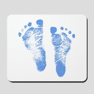 Baby Boy Footprints Mousepad