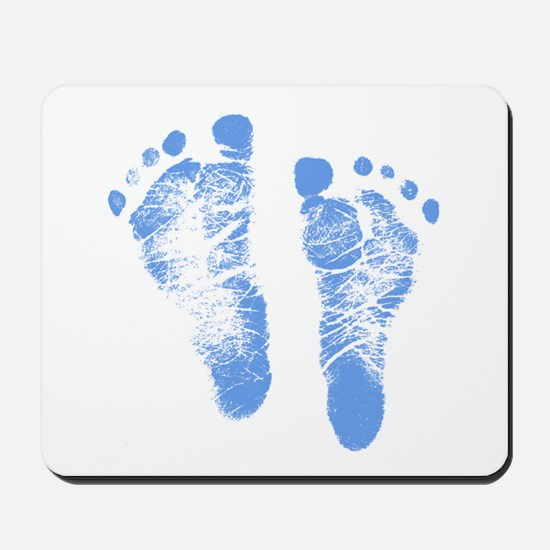 Baby Boy Footprints Mousepad