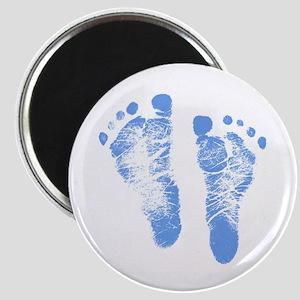 Baby Boy Footprints Magnet