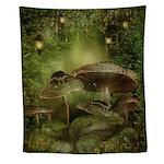 Enchanted Mushrooms Wall Tapestry