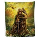 Magic Warrior Wall Tapestry