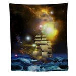 Sail Ship Universe Wall Tapestry