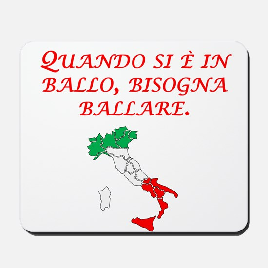 Italian Proverb Penny Pound Mousepad