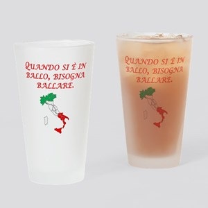 Italian Proverb Penny Pound Drinking Glass