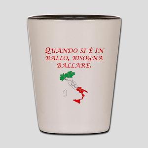 Italian Proverb Penny Pound Shot Glass