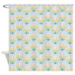Fleur De Lis Pastel Shower Curtain