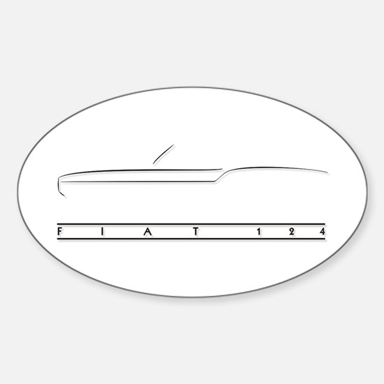 124 Spider Oval Decal