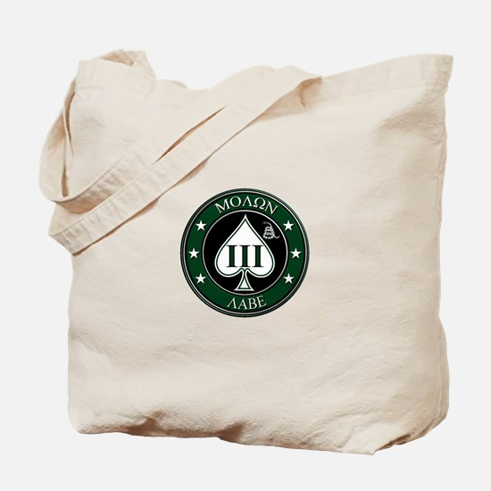 Come and Take It (Green/White Spade) Tote Bag