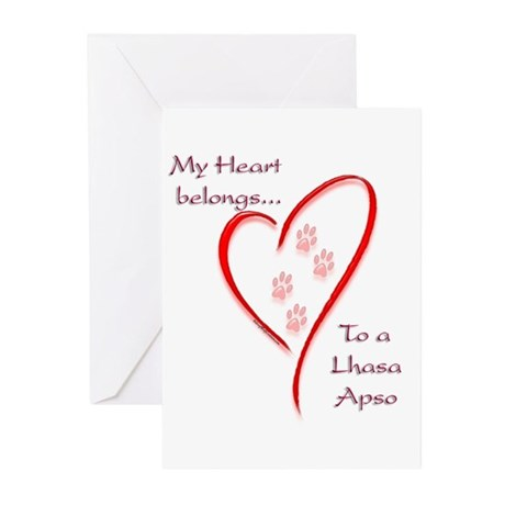 LhasaHeartbelongs Greeting Cards