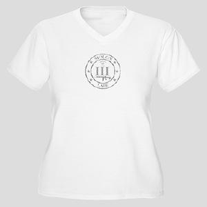 Stamped Molon Labe (Grey) Plus Size T-Shirt