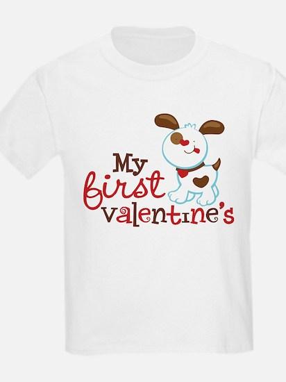 1st Valentines Day Puppy T-Shirt