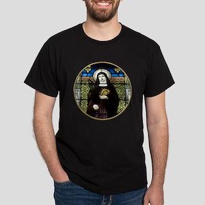 Saint Amelia Stained Glass Window Dark T-Shirt