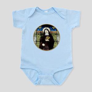 Saint Amelia Stained Glass Window Infant Bodysuit