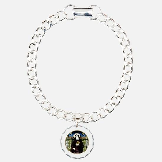 Saint Amelia Stained Glass Window Bracelet