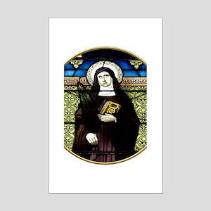 Saint Amelia Stained Glass Window Mini Poster Prin
