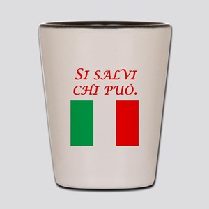 Italian Proverb Every Man Shot Glass