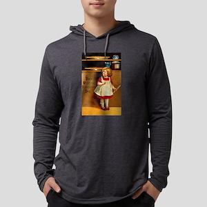 Thanksgiving Girl in Pantry Mens Hooded Shirt