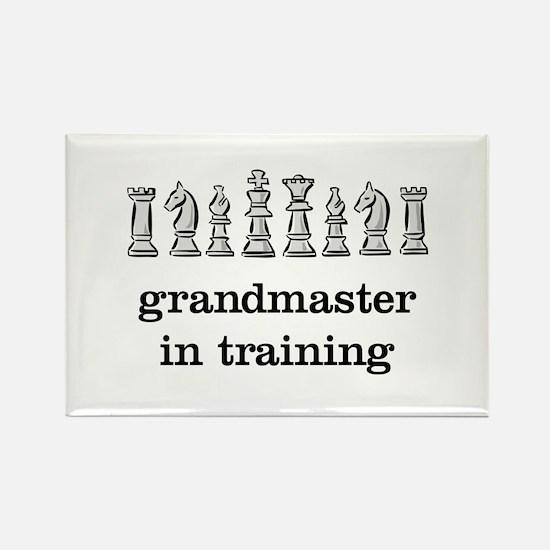 Grandmaster in training Rectangle Magnet