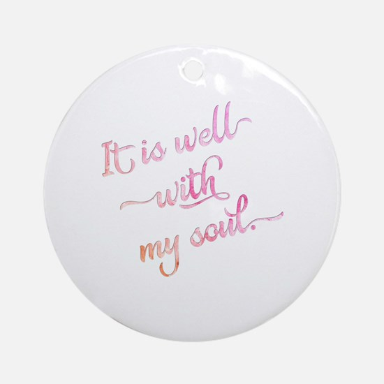 Funny Hymns Round Ornament