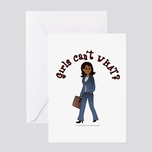 Woman in Business Suit Greeting Card