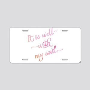 It is well with my soul (pi Aluminum License Plate