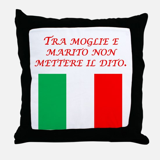 Italian Proverb Husband Wife Throw Pillow