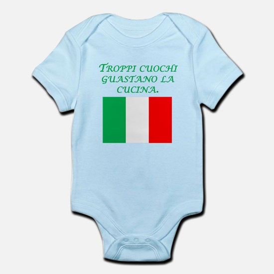 Italian Proverb Too Many Cooks Body Suit
