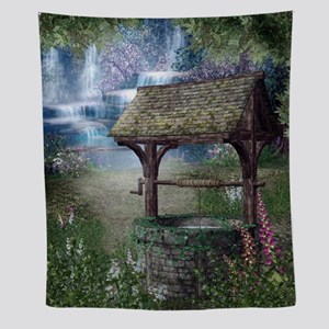 Wishing Well Waterfall Wall Tapestry
