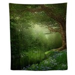 Summer Forest River Wall Tapestry