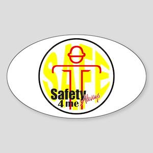 Safety 4 Me Oval Sticker