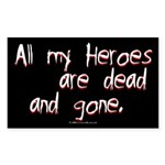 Heroes Rectangle Sticker