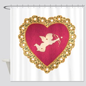 Cupid Valentine Shower Curtain
