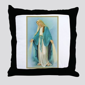 Virgin Mary Throw Pillow